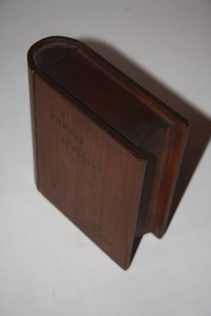 "Image for [Faux Book] Trick Lockbox Shaped Like a Book and Bearing the Title ""Famous Athletes"""