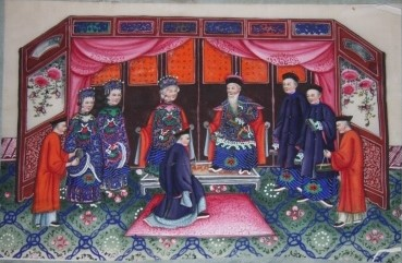 Image for Ten Chinese Gouache Paintings on Pith Paper of Ceremonial, Pedagogical and Domestic Scenes