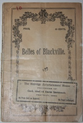 "Image for The Belles of Blackville.  A Negro Minstrel Entertainment for Young Ladies, Concluding with a Specialty Farce Entitled ""Patchwork"""