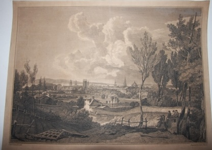 Image for The Oxford Almanack for the Year of our Lord God MDCCCVIII View of Oxford from the South Side of Heddington Hall