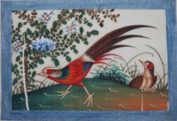 Image for Album of a Dozen Chinese Watercolors of Colorful Birds on Pith Paper, 19th Century